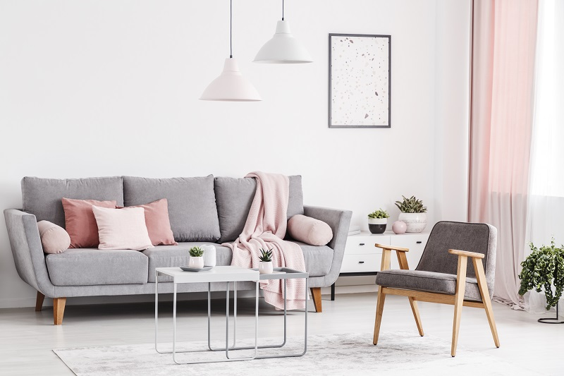 Grey and pastel living room plus minimal 16